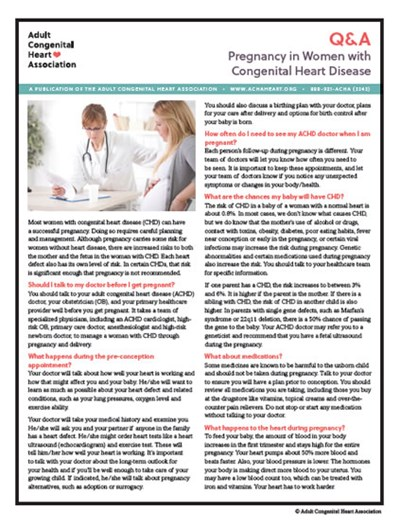 Q & A: Pregnancy in Women with Congenital Heart Disease